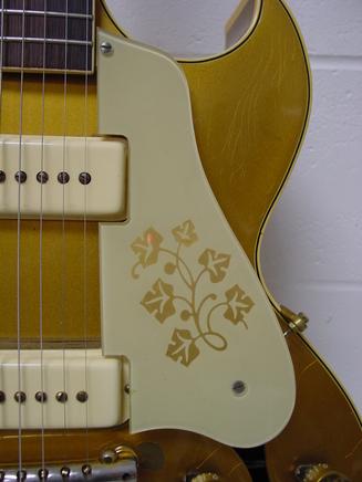 Les Paul LP 295 Floral Design Pickguard Vintage LEFT HAND Gibson Project NEW